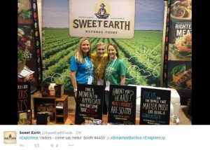 Vegan breakfast burritos by Sweet Earth at Expo West.